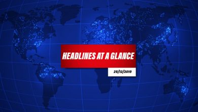 Photo of Headlines at a Glance – 25th December 2019